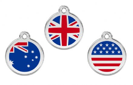 Red Dingo Cat Tag Flags
